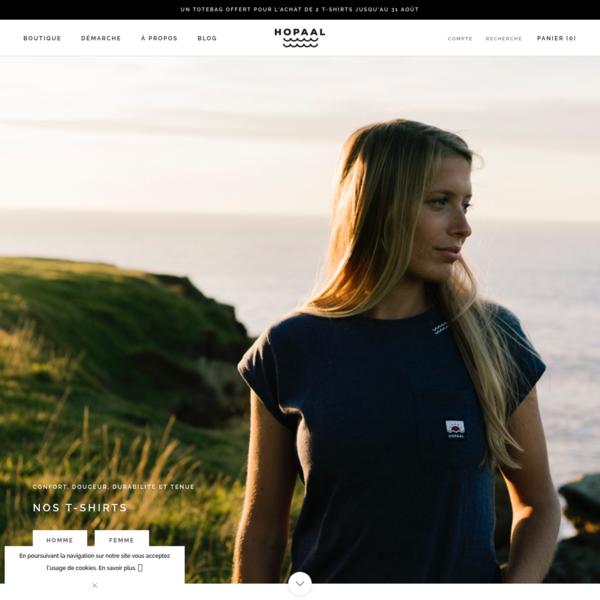 Hopaal - Vêtements 100% recyclés