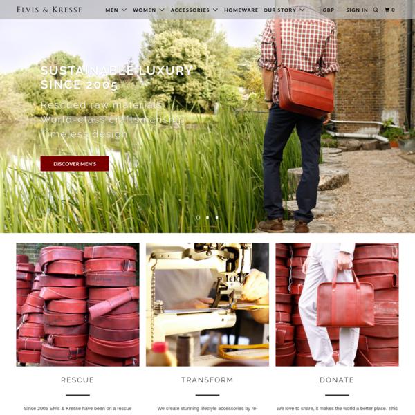 Elvis & Kresse - Sustainable Luxury | Ethical | Handmade| Reclaimed