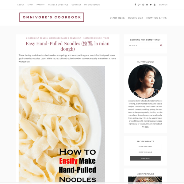 Easy Hand-Pulled Noodles (拉面, la mian dough)   Omnivore's Cookbook