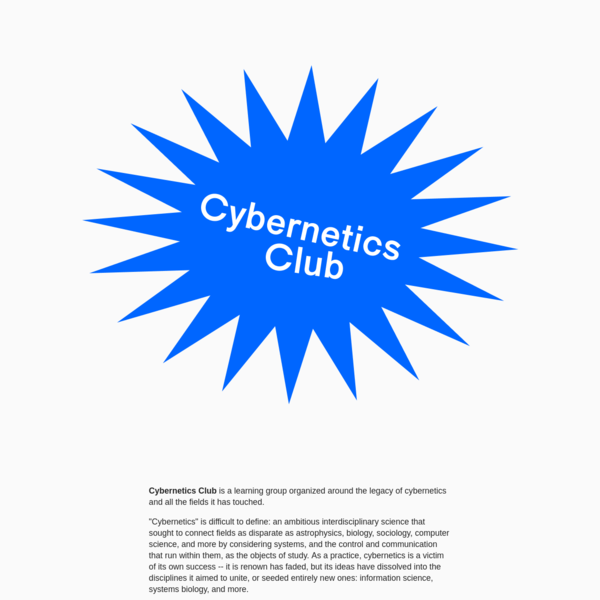 Cybernetics Club