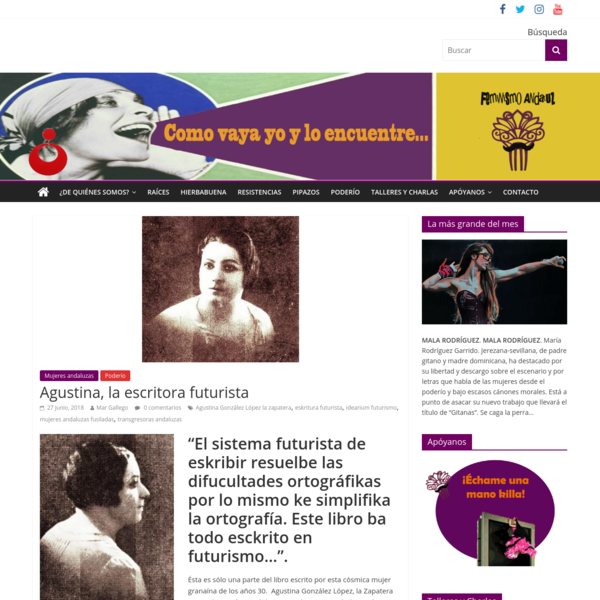 Agustina, la escritora futurista - Feminismo andaluz