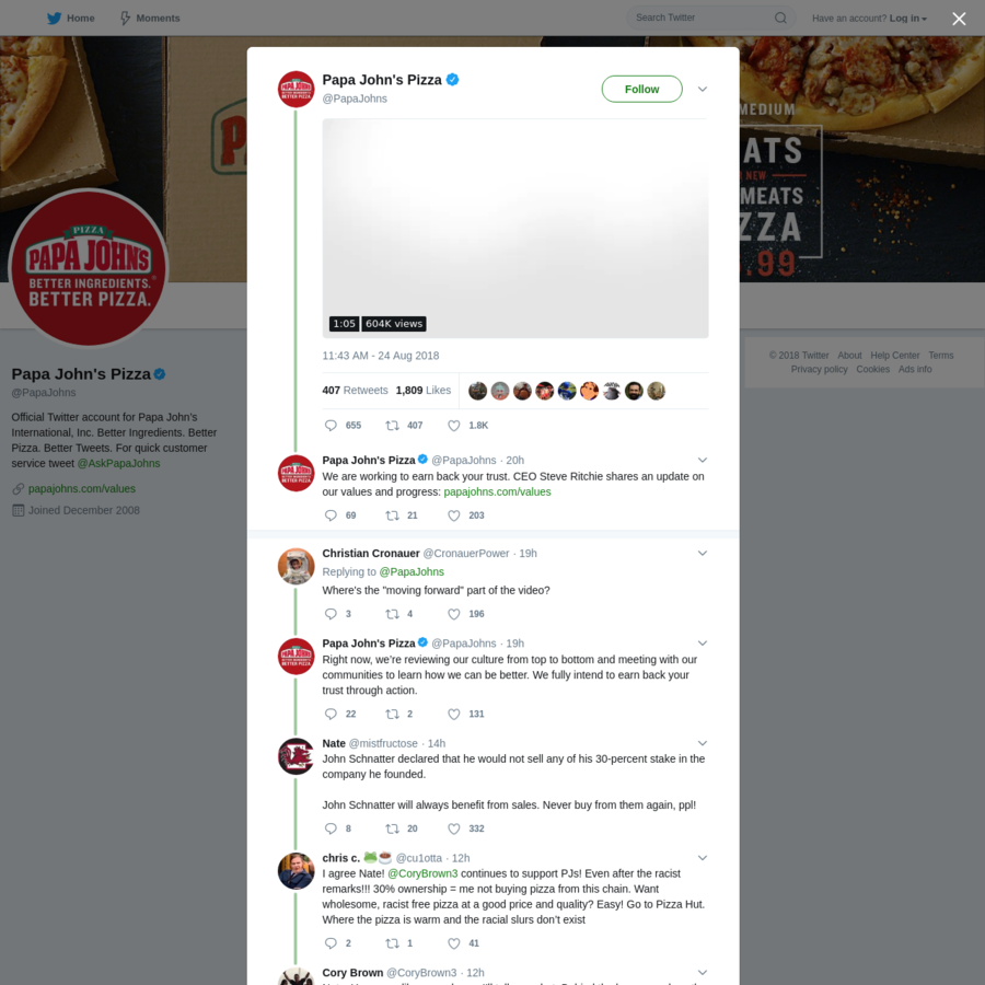 Are.na / Papa John\'s Pizza on Twitter