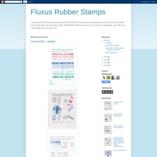 Fluxus Rubber Stamps