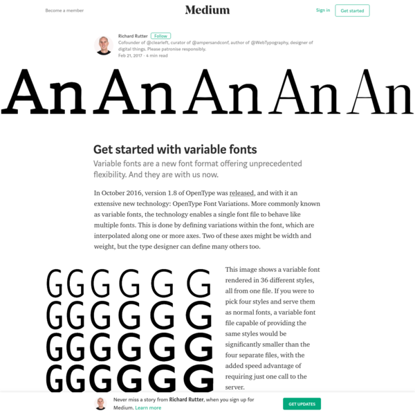 Get started with variable fonts - Richard Rutter - Medium