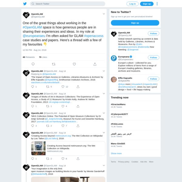 OpenGLAM on Twitter