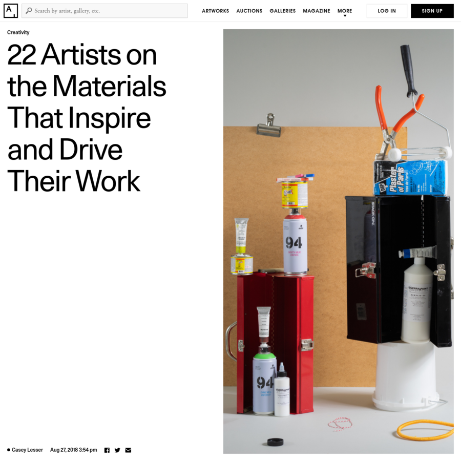 We asked contemporary artists to tell us about their favorite materials, tools, and objects for making art.