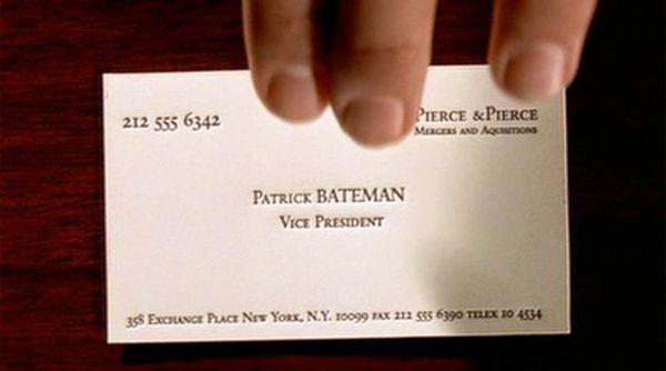 American Psycho's Patrick BATEMAN