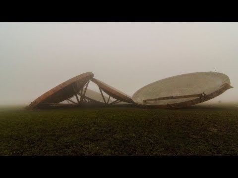 First of all guys these radar dishes have been on my list for many years unfortunately as you can see the weather was against us it was so foggy and so cold at the same time it was so hard to make a decent video.