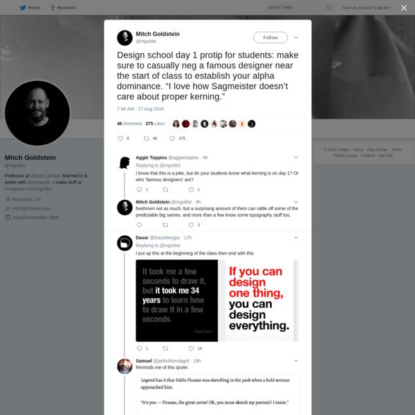 Mitch Goldstein on Twitter
