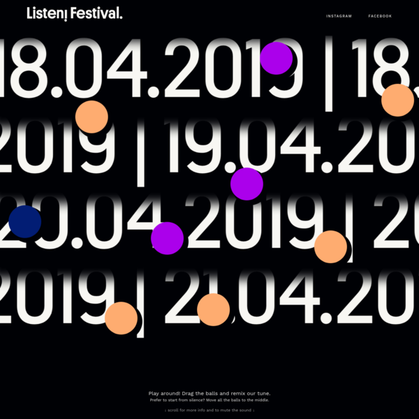 In March 2018, the third edition of LISTEN! sees the light of day. A unique Festival in Brussels, the heart of Europe, with a line-up that focuses on electronic music in its broadest variations.