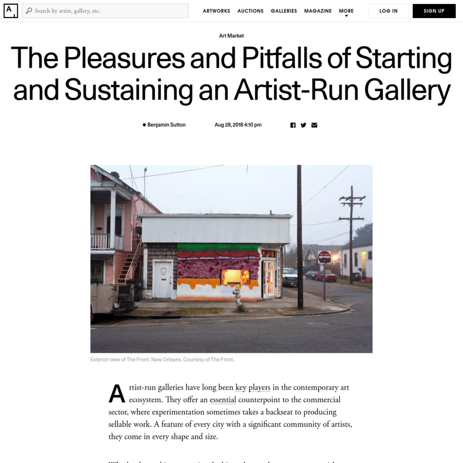 """""""We're super intuitive with the artists we invite, and it's a big range,"""" Stiler and Gordon said. """"We try to juxtapose established artists who might want to try something out of their ordinary, with those that are emerging."""""""
