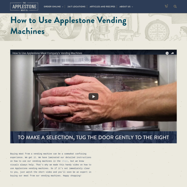 Buying meat from a vending machine can be a somewhat confusing experience. We get it. We have laminated our detailed instructions on how to use our vending machines in the shops, but we know visuals always help. That's why we made this handy video on how to use Applestone vending machines.