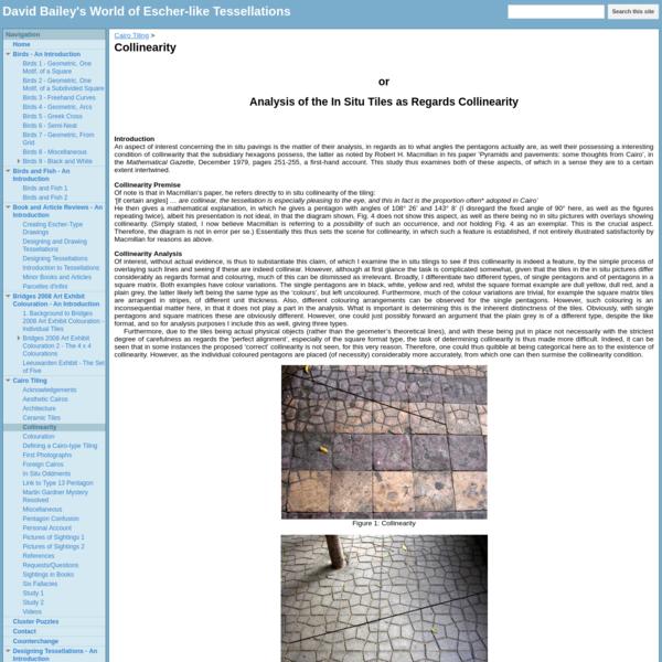 Collinearity - David Bailey's World of Escher-like Tessellations