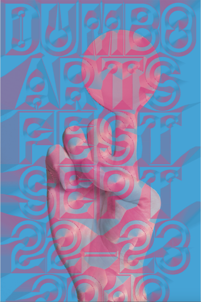 2018 Ian Griffin Dumbo Arts Fest Poster For intro to Communication Design Imaging
