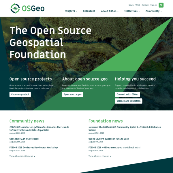Homepage - OSGeo