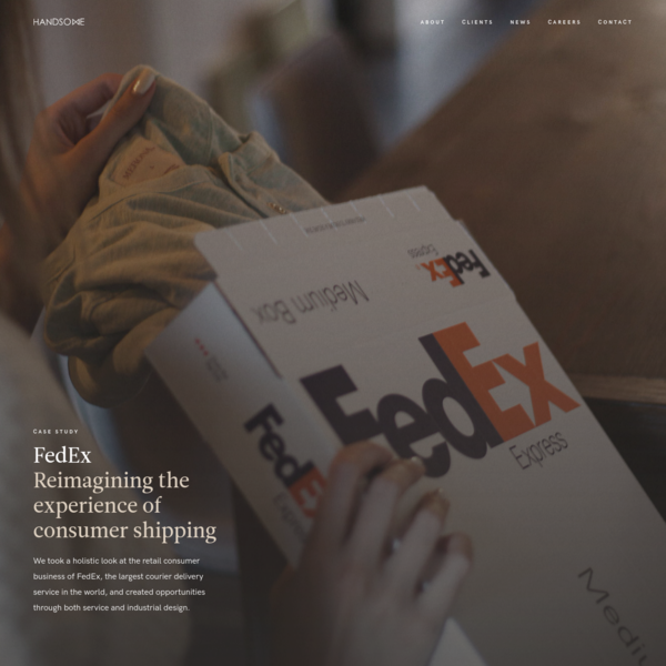 FedEx + Handsome | Reimagining the business of how people ship