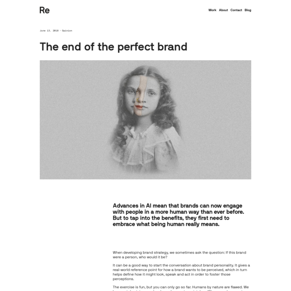 The end of the perfect brand