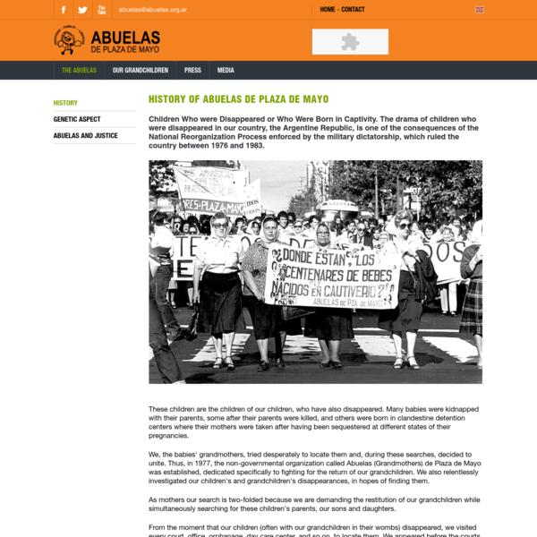 History   Abuelas de Plaza de Mayo