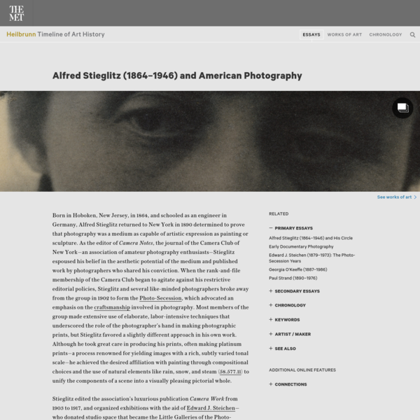 Alfred Stieglitz (1864-1946) and American Photography | Essay | Heilbrunn Timeline of Art History | The Metropolitan Museum ...