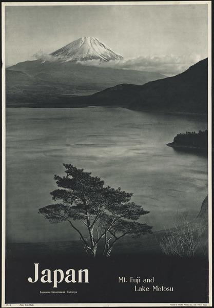 Japan. Mt. Fuji and Lake Motosu