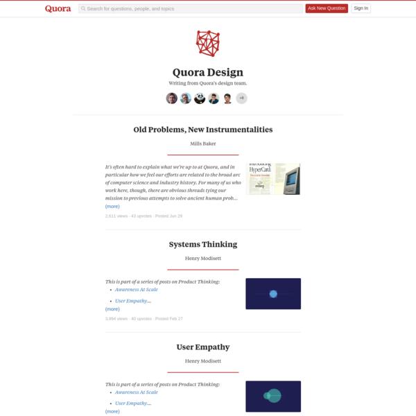 Quora Design