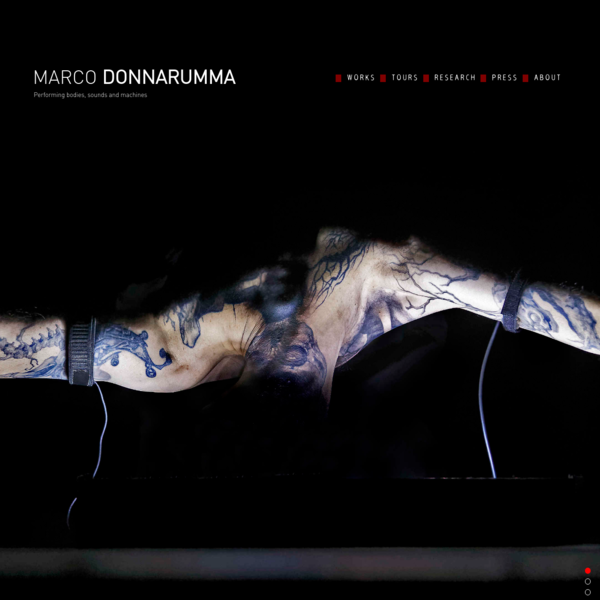 Marco Donnarumma | performance art and technology, sound art and body politics