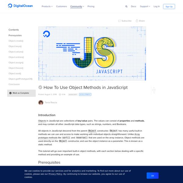 How To Use Object Methods in JavaScript | DigitalOcean