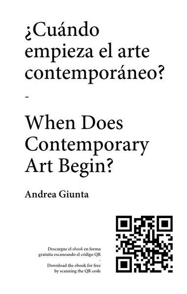 ¿Cuándo empieza el arte contemporáneo? / When Does Contemporary Art Begin?