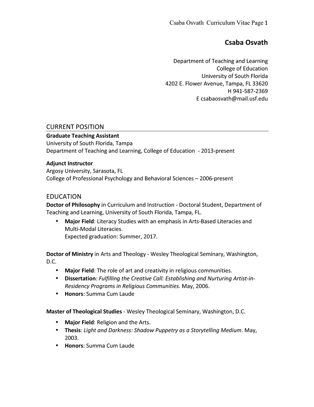Research Proposal Parts Three