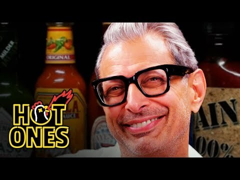 Jeff Goldblum is known for his roles in films like The Fly, Jurassic Park, and Independence Day, and you can catch him in The Mountain, which is headed to the Venice Film Festival. But how is he with spicy food?