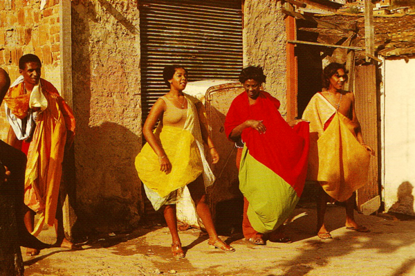 *Parangolé P 08 Capa 05 – Mangueira*, 1965; *P 05 Capa 02*, 1965; *P 25 Capa 21- Nininha Xoxoba*, 1968; *P 04 Capa 01*, 1964
