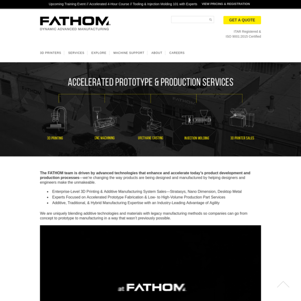 The FATHOM team is driven by advanced technologies that enhance and accelerate today's product development and production processes-we're changing the way products are being designed and manufactured by helping designers and engineers make the unmakeable.