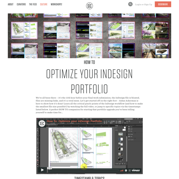 Section Cut | How To: Optimize Your InDesign Portfolio