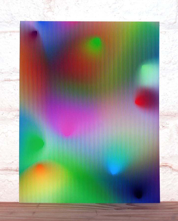 cone gradient with stripes #3, Zach Lieberman