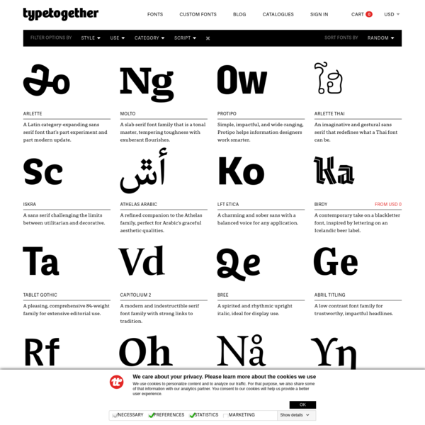 Professional font catalogue | Try, Buy and Download | TypeTogether