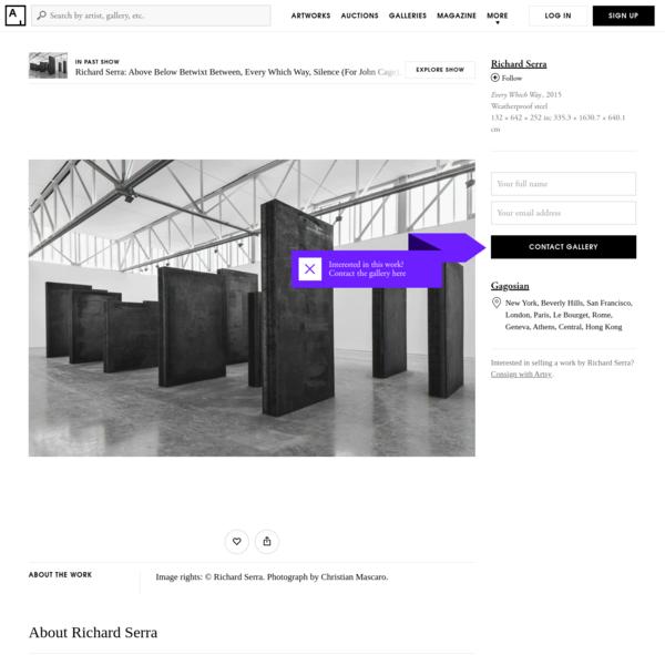 From Gagosian, Richard Serra, Every Which Way (2015), Weatherproof steel, 132 × 642 × 252 in