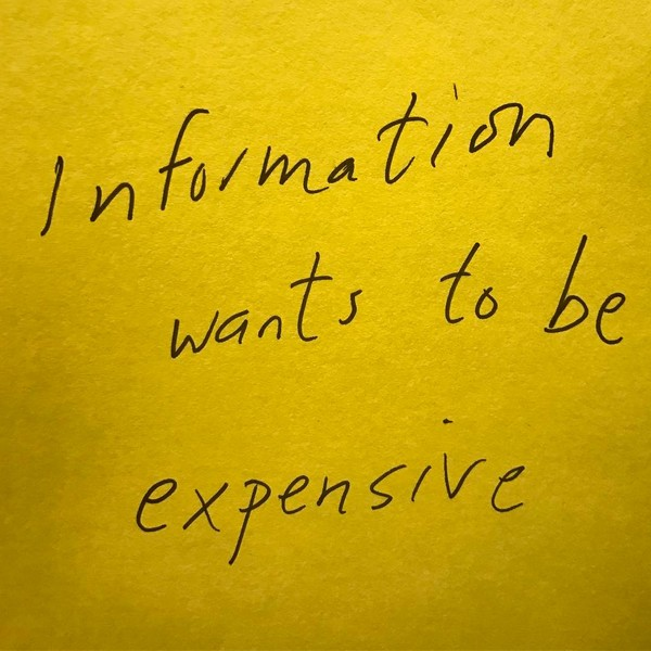 Douglas Coupland Information wants to be expensive