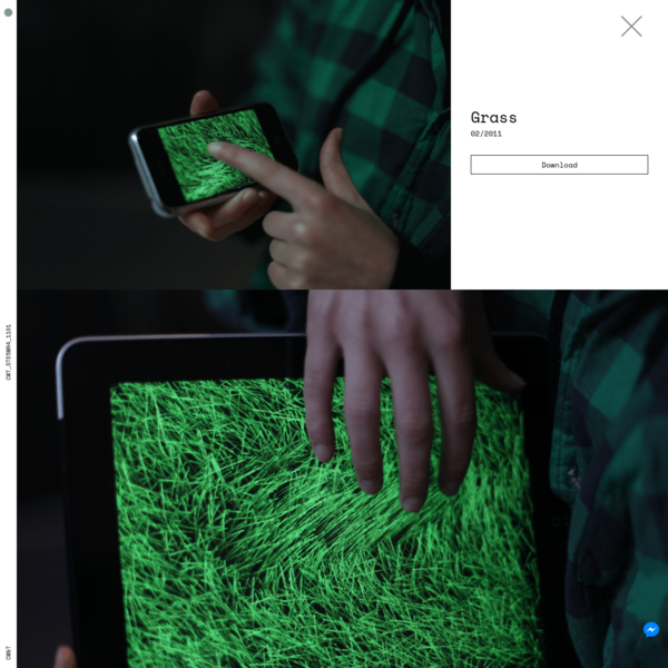 Grass is field of green lines that you can pet, coddle, pat, touch, and caress on your iPad, iPhone or iPod Touch.Think calm soothing thoughts.