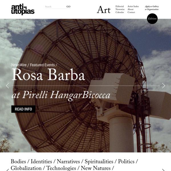 A Contemporary Art Platform | Anti-Utopias