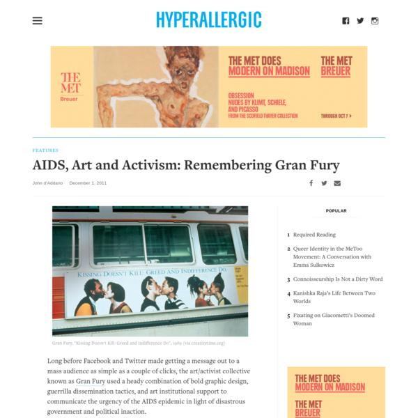 AIDS, Art and Activism: Remembering Gran Fury