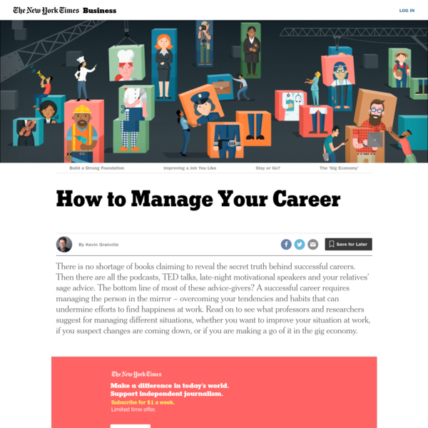 How to Manage Your Career