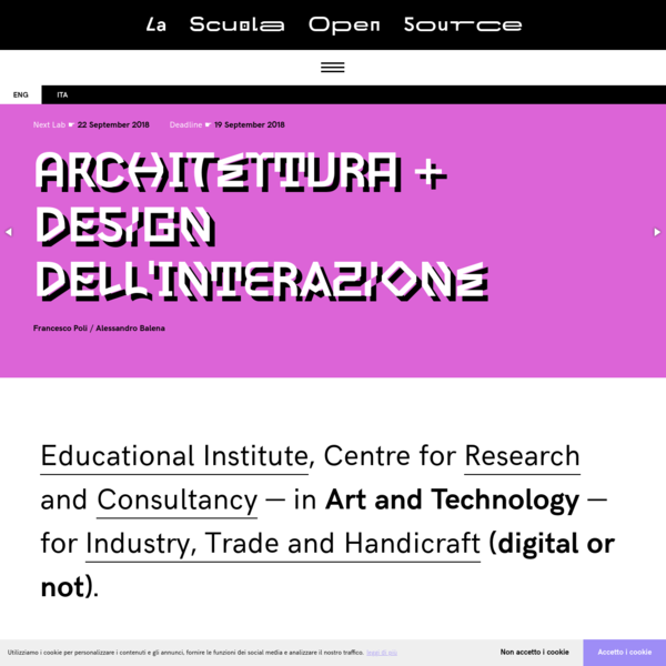 Educational Institute, Centre for Research and Consultancy - in Art and Technology - for Industry, Trade and Handicraft (digital or not).