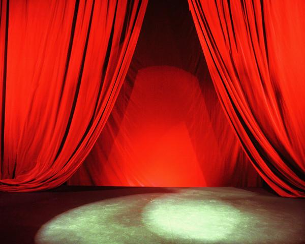 Spotlight on an empty stage