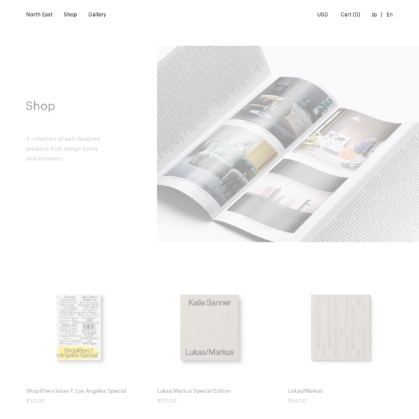 A collection of well-designed products from design books and stationery.