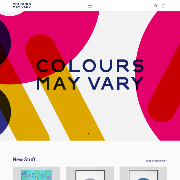 Colours May Vary is an independent book shop and event space based in Leeds stocking a collection of design, illustration, photography and lifestyle books as well as prints, stationery and homewares.