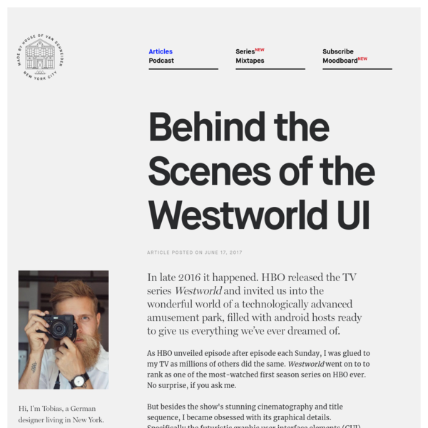 Behind the Scenes of the Westworld UI - DESK Magazine