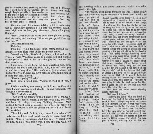 Delany, Samuel R., _Dhalgren_ (Des Plaines: Bantam Books, 1975), pp. 784–5.
