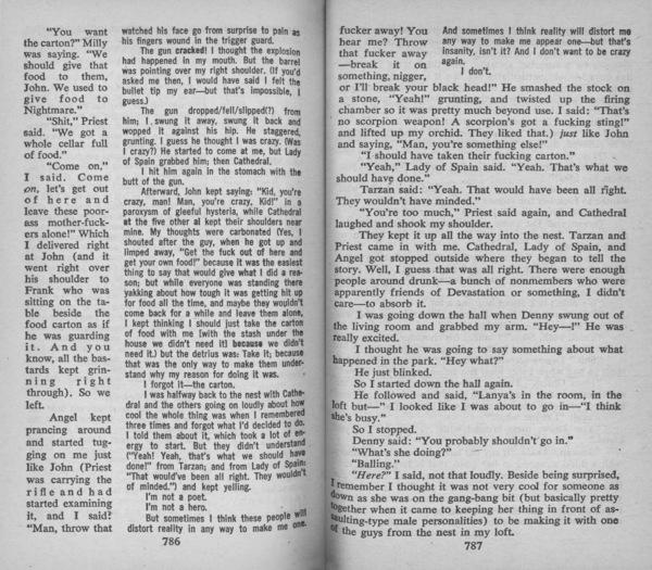 Delany, Samuel R., _Dhalgren_ (Des Plaines: Bantam Books, 1975), pp. 786–7.
