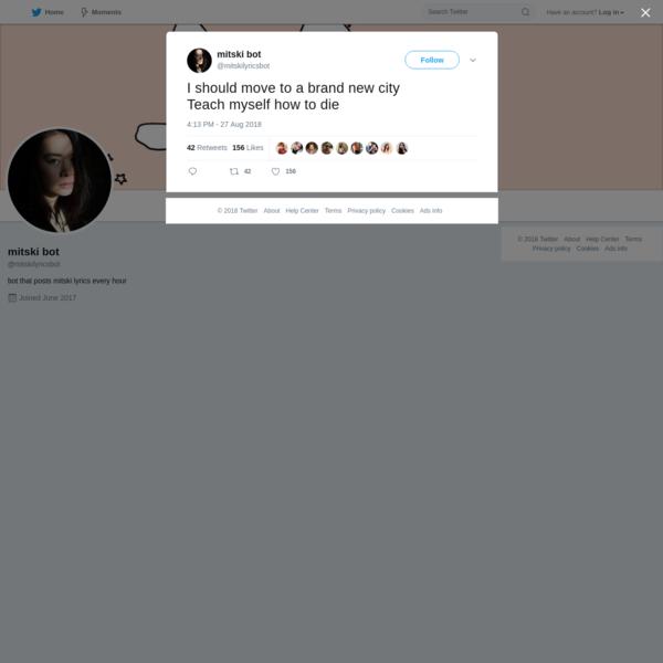 mitski bot on Twitter