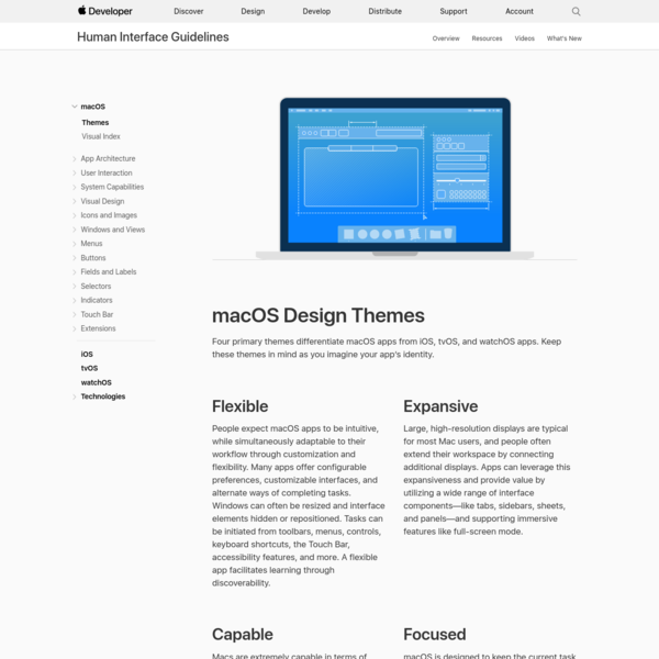 Themes - macOS - macOS - Human Interface Guidelines - Apple Developer
